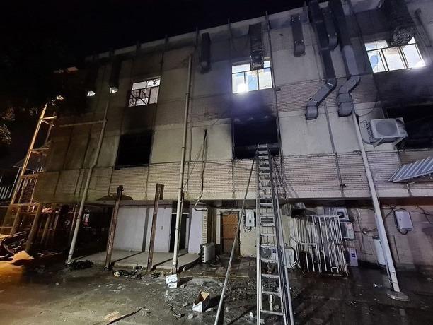 آتش سوزی بیمارستان بغداد