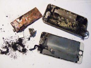 انفجار باتری آیفون 6