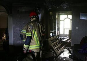 آتش سوزی در محله ملاصدرا ی تهران