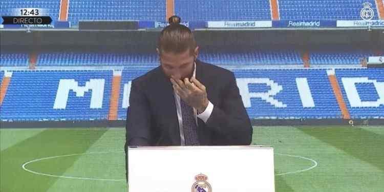 راموس و اشک هایش در کنفرانس خبری