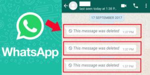 نحوه خواندن پیام های واتساپ که توسط فرستنده حذف شده است
