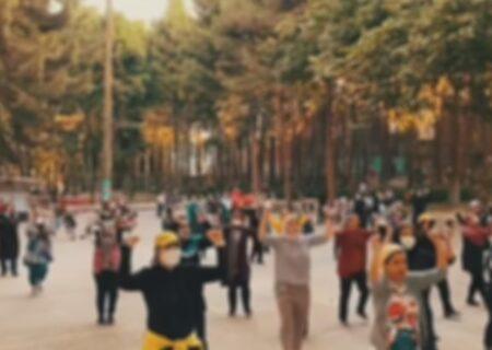 رقص زومبای زنان در پارک های کرمانشاه + عکس