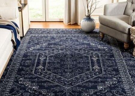 فرش سرمه ای با چه مبلی ست میشود؟