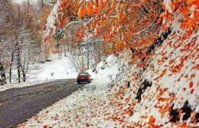 اولین برف پاییزی اسالم